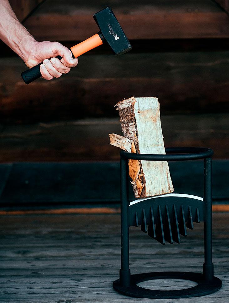 Дровокол своими руками - чертежи фото инструкции пружинного гидравлического колуна для самоделок