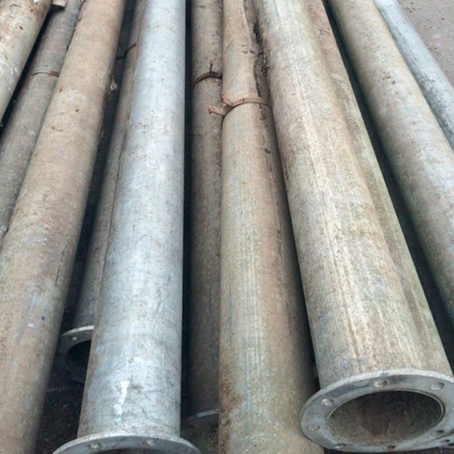 поливная алюминиевая труба для изготовления лопастей крыльчатки (длиной около 70 см);