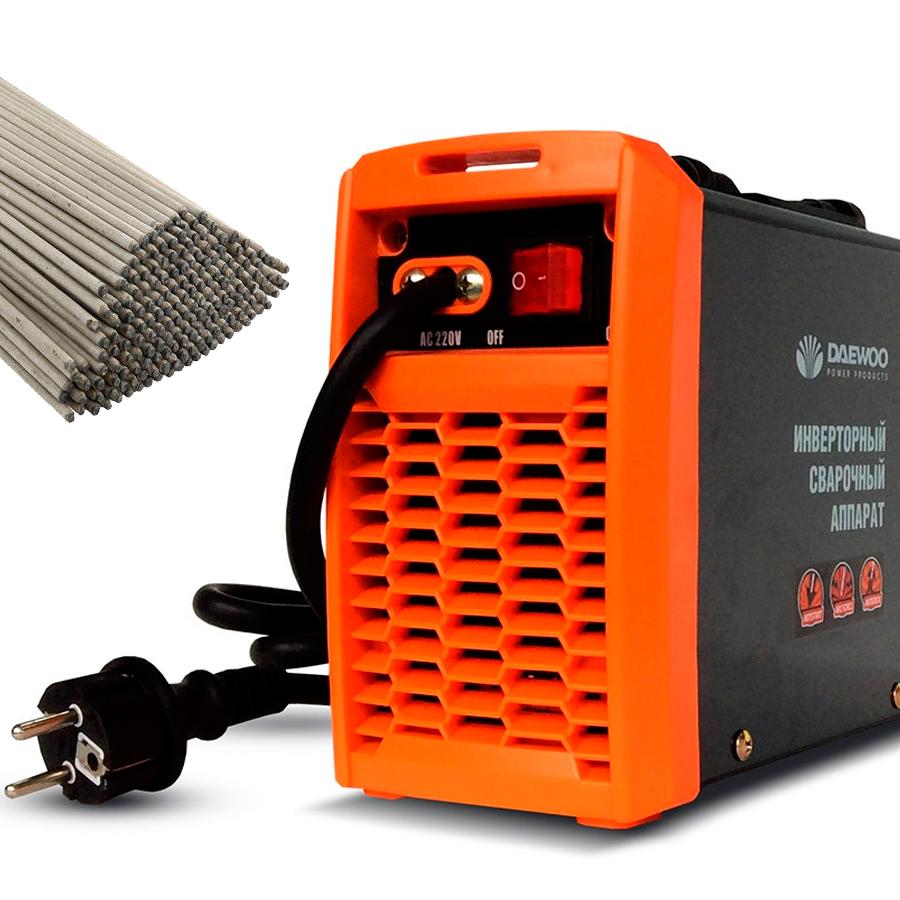 сварочный инвертор с набором электродов;