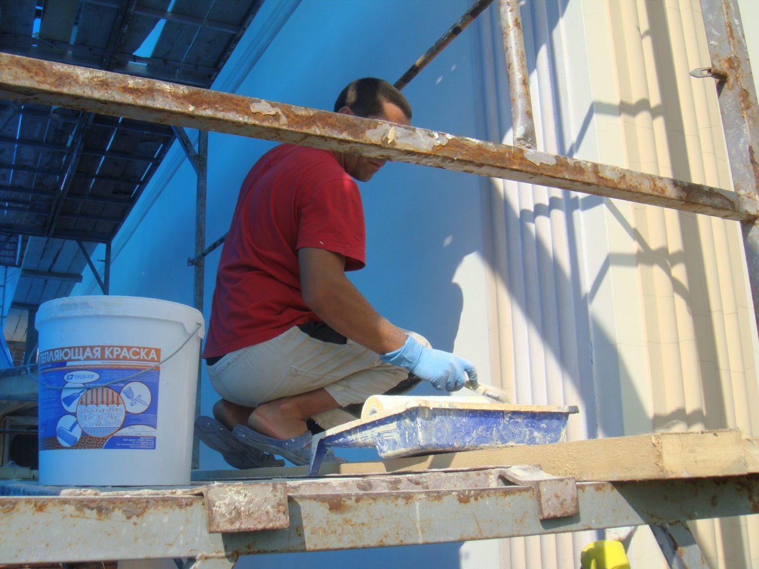 фасадные теплоизоляционные краски (используются только для нанесения на наружные стены).